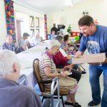 Grannies And Grandpa's At John Dunn House Enjoying Some Cakes
