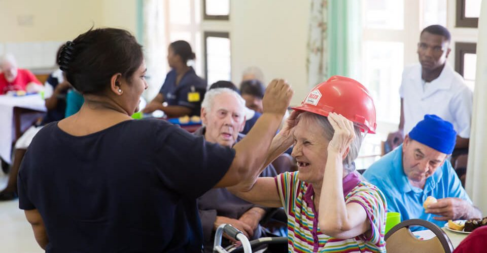 Granny At John Dunn House Wearing Her Dezzo Roofing Hard Hat