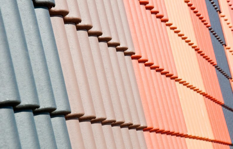 Roof Tiles In Varying Colours