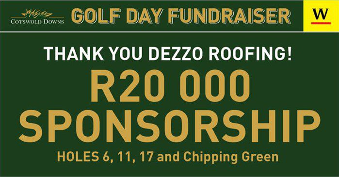 Cotswold Downs Golf Day Fundraiser Thank-You Note To Dezzo Roofing