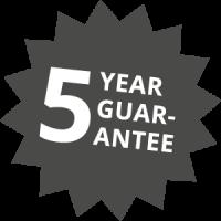 Seamless Aluminium Gutter 5 Year Guarantee Icon